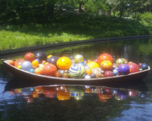 Chihuly - Float Boat in the Native Plant Garden at NY Botanical Garden