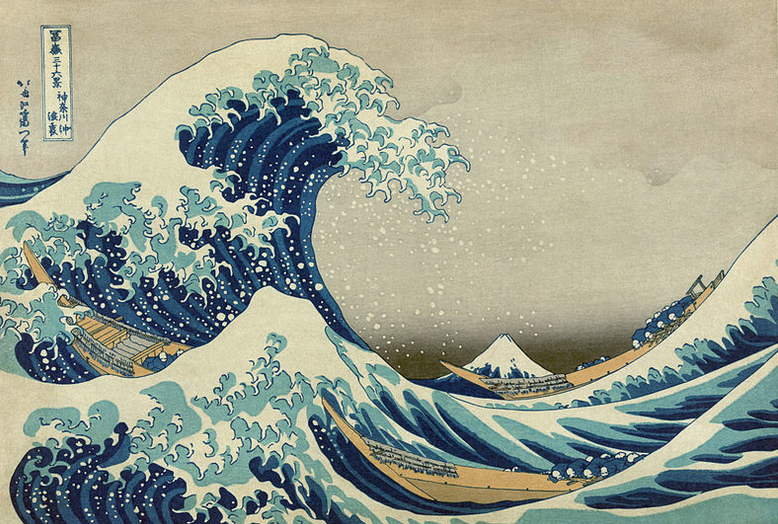 'The Great Wave Off Kanagawa' by Hokusai from the '36 Views of Mount Fuji' series