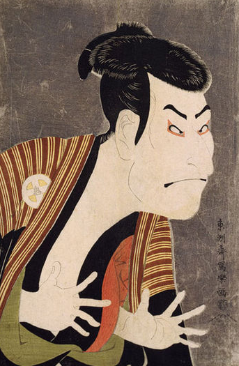 Kabuki actor Otani Oniji II by Toshusai Sharaku