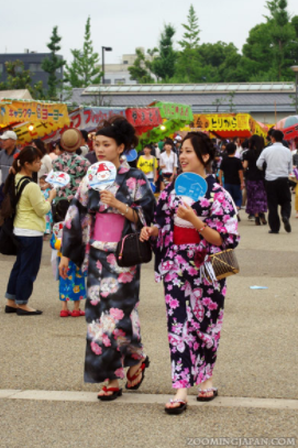 Image credit: Girls wearing yukatas at a traditional festival