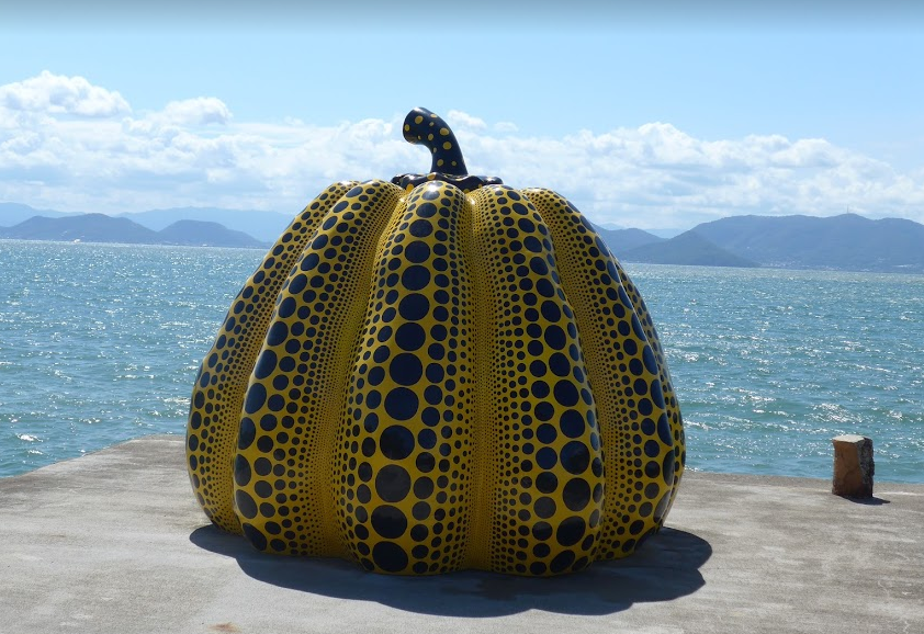 """Yellow Pumpkin"" on Naoshima island September 2017"