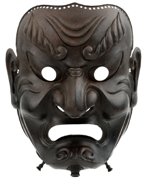 Sōmen (full-face mask). Edo period, 1710. Iron.