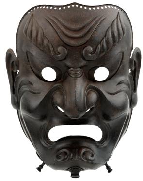 Sōmen (full-face mask). Edo period, 1710. Iron.